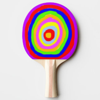 Ping Pong Bat - Rough Colour Circles Ping Pong Paddle