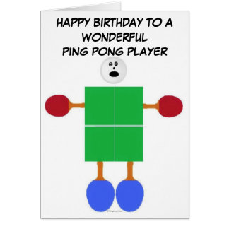 Ping Pong Birthday Card