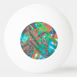 Ping Pong Colorful Stained Glass Ping Pong Ball