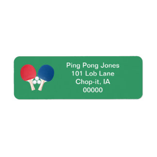 Ping Pong Labels