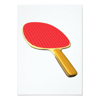 Ping Pong Paddle 13 Cm X 18 Cm Invitation Card
