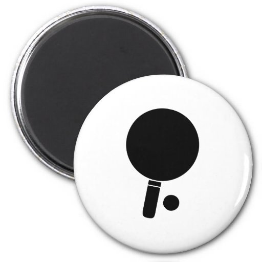 Ping Pong Paddle and Ball Refrigerator Magnet