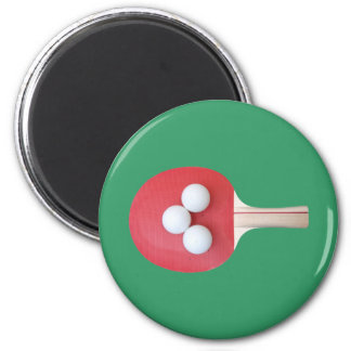 Ping Pong Paddle and Balls Magnet