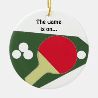 Ping Pong Paddle with Balls Christmas Ornament