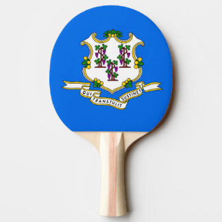 Ping pong paddle with Flag of Connecticut, USA