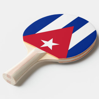 Ping pong paddle with Flag of Cuba