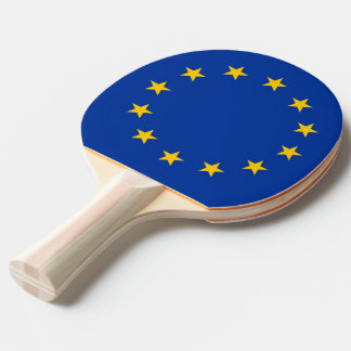 Ping pong paddle with Flag of European Union