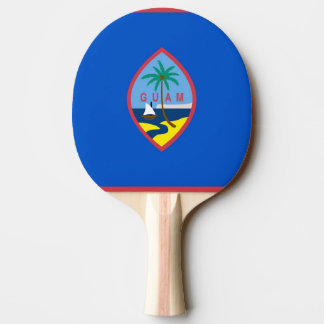 Ping pong paddle with Flag of Guam, USA