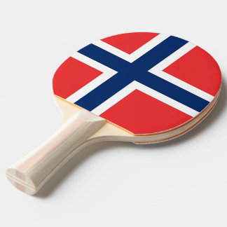 Ping pong paddle with Flag of Norway