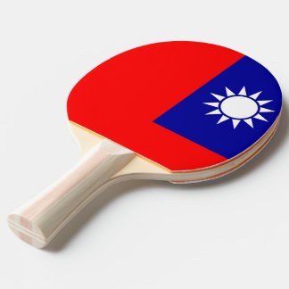 Ping pong paddle with Flag of Taiwan
