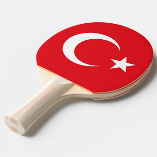 Ping pong paddle with Flag of Turkey