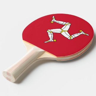 Ping pong paddle with Isle of Man Flag