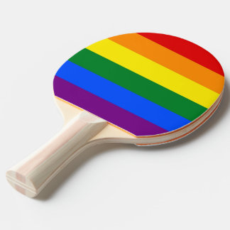 Ping pong paddle with Pride Flag of LGBT