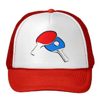 Ping Pong Paddles Ball Mesh Hats