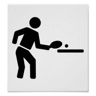 Ping pong player posters