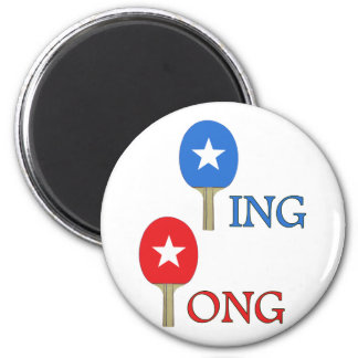 Ping Pong Star 6 Cm Round Magnet