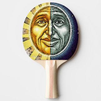 Ping pong sun and moon face ping pong paddle