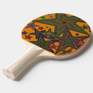 Ping Pong Table Tennis Big Stars Orange Paddle