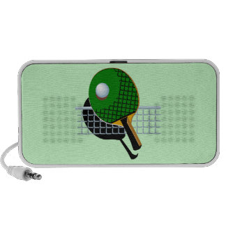 Ping Pong Table Tennis Doodle Speakers