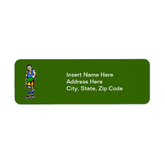 Ping Pong Table Tennis Return Address Label