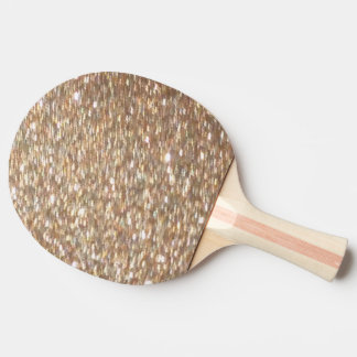 Ping Pong Table Tennis Silver Gold Glitter Paddle
