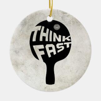 Ping Pong Think Fast Christmas Tree Ornaments
