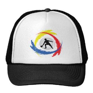 Ping Pong Tricolor Emblem Trucker Hats