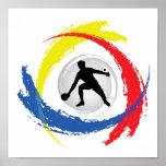 Ping Pong Tricolor Emblem Poster