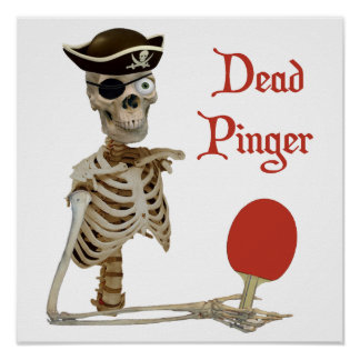 Pinger Pirate Ping Pong Posters