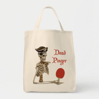 Pinger Pirate Ping Pong Tote Bags