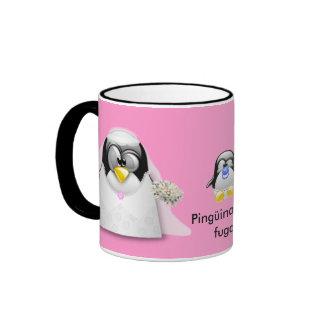 Pingüina a la fuga tazas de café