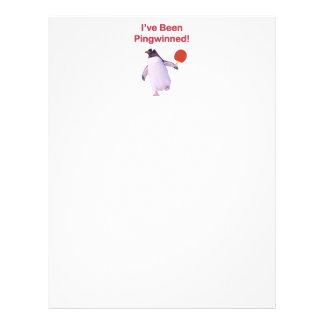 Pingwinned Penguin Ping Pong Flyer