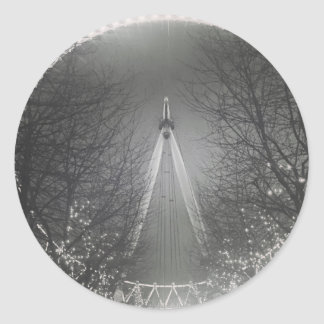 Pinhole London eye Classic Round Sticker