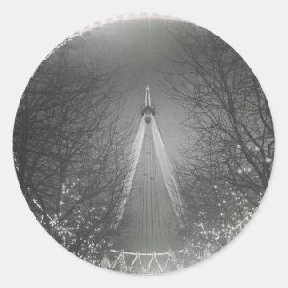 Pinhole London eye Round Sticker