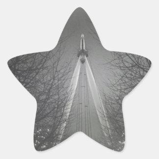 Pinhole London eye Star Stickers
