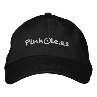 Pinhole white embroidered hat