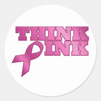 pink_03 classic round sticker
