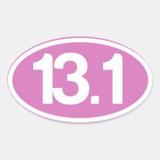 Pink 13.1 Half Marathon Sticker