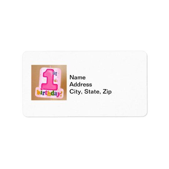 Pink 1st Birthday Tag on Door
