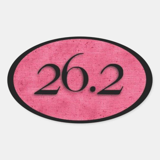 Pink 26.2 marathon sticker by Vetro