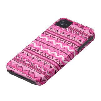 Pink #3 - Aztec iPhone 4 Case