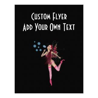 Pink 3D Pixie - Fairy Graphic 1 21.5 Cm X 28 Cm Flyer