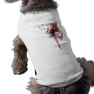 Pink 3D Pixie - Fairy Graphic 1 Sleeveless Dog Shirt