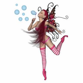 Pink 3D Pixie - Fairy Graphic 1 Photo Sculptures
