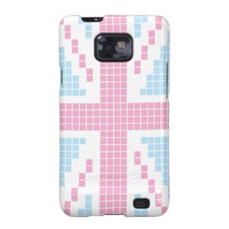 Pink 8-bit Pixels Union Jack British(UK) Flag Samsung Galaxy S2 Case