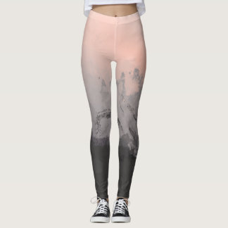 Pink Abstract Brushstrokes Leggings
