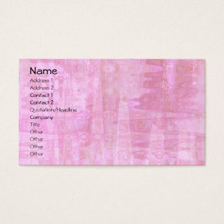Pink Abstract Business Card