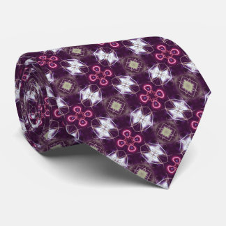 Pink Abstract Flower Pattern Tie