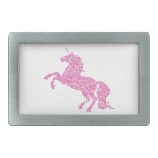 Pink Abstract Glitter Effect Unicorn Rectangular Belt Buckle