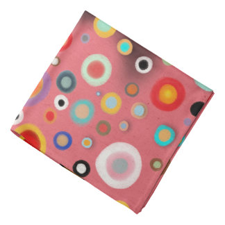 Pink Abstract Happy Circles Whimsicals Head Kerchiefs